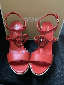 michael kors kerry wedge leather size 10