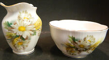Vintage Royal Albert Daisy & Wheat Pattern Cream & Sugar Bowl Excellent Cond