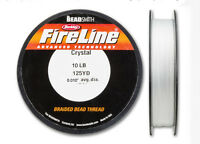 Fireline Beading Thread -Select Crystal Or Smoke 4LB 6LB 8LB 10LB 125 Yard Spool