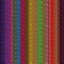 NORO ::Taiyo #89:: cotton silk wool yarn Blue-Fuchsia-Yellow-Green-Red-Browns