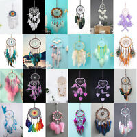 Handmade Dream Catcher Feather Home Wall Hanging Pendant Decor Ornament Craft