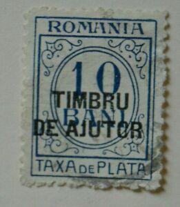 Stamp Romania 1915 Postage Due Numeral Overprint Timbru Ajutor on Taxa de Plata