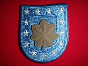 US Army MAJOR Rank Metal Subdued Badge On Beret Patch / Flash