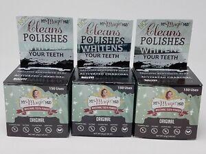 Lot of 3 - My Magic Mud Whitening Toothbrushing Powder Fluoride Free Vegan (CL1)