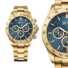 Hugo Boss Herrenuhr 1513340 Ikon Gold Edelstahl Chronograph Armbanduhr