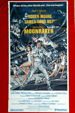 007 JAMES BOND MOONRAKER 3SH 1979 ROGER MOORE VINTAGE ENGLISH UK MOVIE POSTER