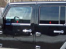 2007-2013 JEEP WRANGLER 4PC STAINLESS STEEL WINDOW SILL TRIM