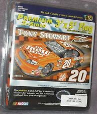 TONY STEWART # 20 NASCAR SIGNATURE EDITION COLLECTORS SERIES DOUBLE SIDED FLAG