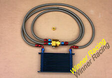 50mm 13 row AN-10/AN10 double-deck oil cooler hose filter relocation kit