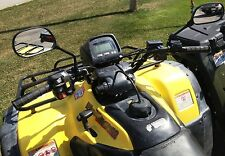 Rear view mirror set for Honda line of ATVs, Universal fit on handle bars