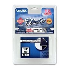 """Brother TZE211 1/4"""" Black/White P-Touch Label TZ-211 PTouch Label Tape"""