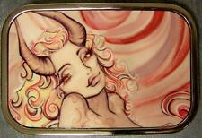 Metal TATTOO belt buckle Sexy Ink Girl Hell's Angel NEW