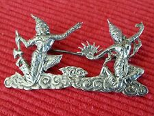 Siam silver brooch,silver dancers,stamped on back sterling ,