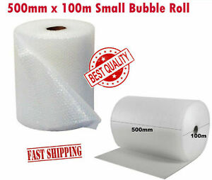 500MM X 100M JPN SMALL BUBBLE WRAP CUSHIONING QUALITY BUBBLE LONG ROLL
