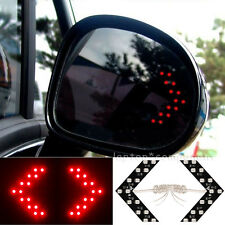 2x Car Rearview Mirror Panel Arrow Red 14-SMD LED Turn Signal Indicator Lamp New
