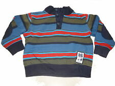 Topolino tolles Sweatshirt / Pullover Gr. 104 blau-grün-orange gestreift !!