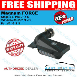aFe Magnum forCE Stage-2 Si Pro DRY S for VW Jetta 09-15 2.0L-tdi 51-81711
