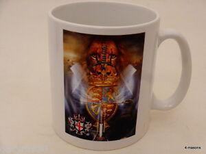 Pair of Masonic designed  Mugs  London Lion heart Design