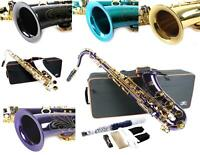Venus TENOR SAXOPHONE Sax BLACK WHITE AQUA BLUE GOLD  ANTIQUE BRONZE + Case