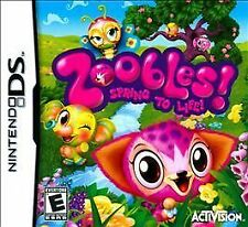 Zoobles Spring to Life (Nintendo DS, 2011) NEW