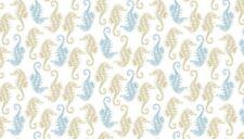 Fabric 100% cotton, Makower UK. Beachcomber Seahorses 1995/1
