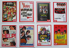 Set of 8 BEATLES RARITIES trade cards - RED 'Movie Posters' series