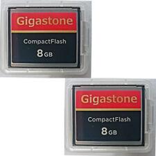 2 x Dane-Elec/Gigastone CF 8 GB 8GB Compact Flash Memory Card for Canon Nikon
