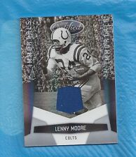 LENNY MOORE GAME USED 2010 CERTIFIED MATERIALS #51/250 BALTIMORE COLTS