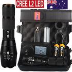 8000lm X800 Shadowhawk CREE L2 LED Flashlight Torch 2PCS 5000mAh 18650 Battery