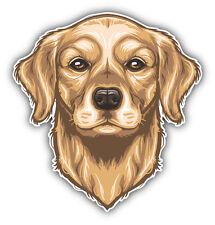 Golden Retriever Dog Head Car Bumper Sticker Decal 5'' x 5''