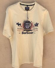$80 Barbour Polo Club, Team Tee, Cream Color,100% Cotton T-Shirt,Sz XL (M).