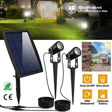Garden Outdoor Waterproof LED Twin Solar Spot Lights Landscape Lighting 1000LM