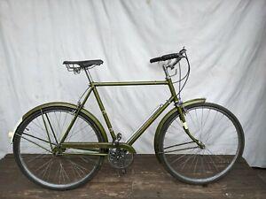 "1970 RALEIGH SPORTS Bronze Green 23"" Men's 3 Speed Touring Bike"