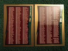 1998 Topps #329 & #330 Football Checklist Set 2 Cards