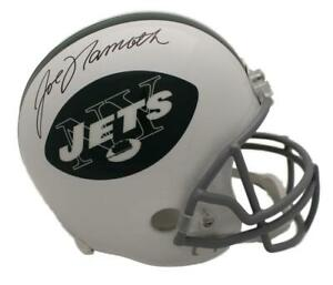 Joe Namath Autographed/Signed New York Jets Replica Helmet JSA 21642