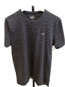 Hollister Must Have T Shirt Men's Heathered Dark Gray Medium 100% Cotton