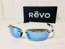 REVO RE4060 09 BL DESCEND E Crystal w/ Blue Water POLARIZED Lenses Sunglasses