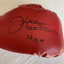 Ken Norton HOF Signed Boxing Glove JSA COA
