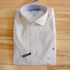 Mens Tommy Hilfiger THLUXE Button Down Long Sleeve Casual Shirt