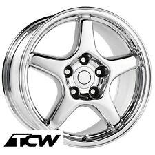 """17"""" 17x9.5 inch Corvette C4 ZR1 OE Replica Style Chrome Wheels Rims fit C4 84-87"""