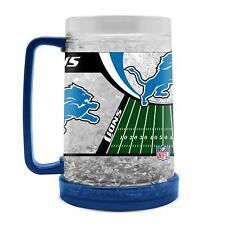 Nfl Detroit Lions Crystal Krug Mug Cup Beer Freezer Football Pils