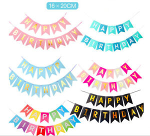 Happy Birthday Foil Balloons Paper Banners Inflatable Reusable Party Decorations