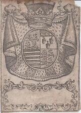 Ex-libris héraldique LANGLOIS de MOTTEVILLE - Normandie - Rouen - XVIIIème s.