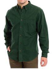 Woolrich Mens Sportsman Chamois LS Button Shirt Green Spruce Heather 2XL