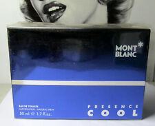 Mont Blanc PRESENCE COOL Cologne 1.7oz Eau de Toilette Spray SEALED NOS