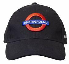 Licensed Unisex London Underground Baseball Cap Black