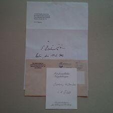 EDELGARD BULMAHN SPD (1998-2005 BILDUNGSMINISTERIN) signed signiert Brief 20x30
