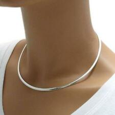 925 Sterling Silver 3mm Domed Omega Chain Choker 16 inches for your own Pendant