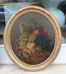 B. LEISINGER 1875 - Herbststillleben mit Früchten und Nüssen - Museumsauflösung