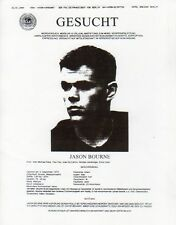 The Bourne Supremacy, Wanted Fax Poster, Matt Damon